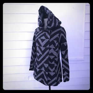 Mossimo Blue & Gray hooded jacket S fits XS